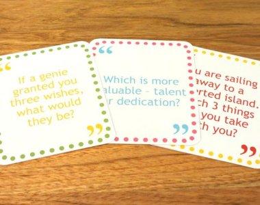 Conversation Cards Help Combat Loneliness